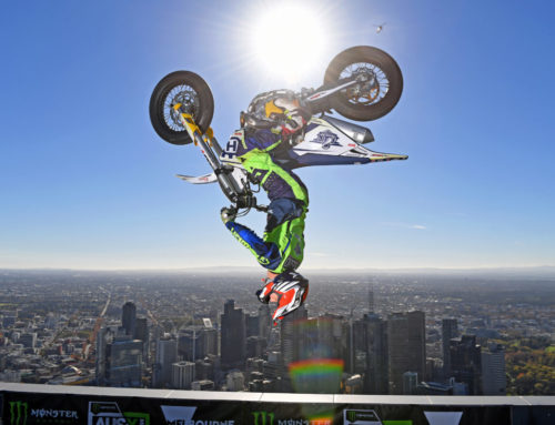 Jack Field completes world's highest backflip on top of Eureka Tower in Melbourne